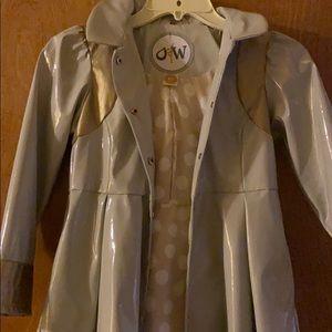 Girls Oil & Water Luxury Raincoat Size 10